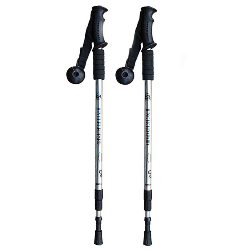Lightweight Black Plastic Monopod Crutch Head Trekking Pole Walking Stick Camera