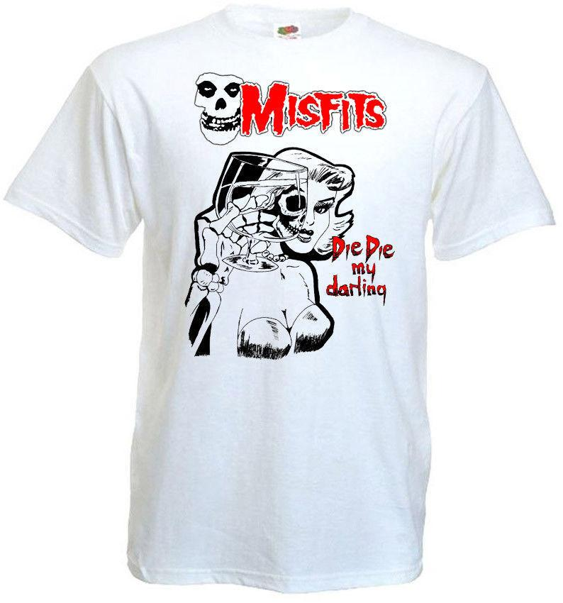 Misfits v5 poster T shirt bianca tutte le taglie S-5XL Taglia Discout Hot New Tshirt Camicie di marca jeans Stampa