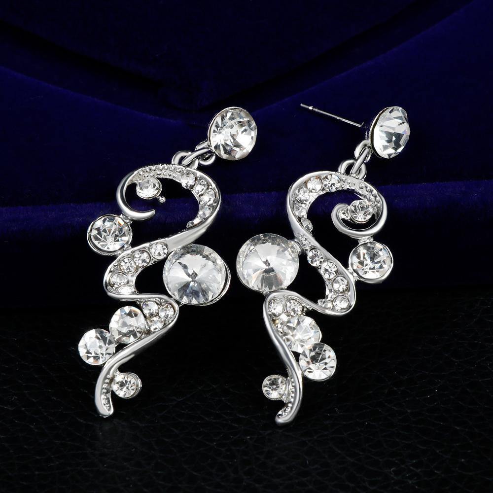 danbihuabi 2018 elegante set di gioielli da sposa bianco k strass collana orecchini set di gioielli costume le donne regali