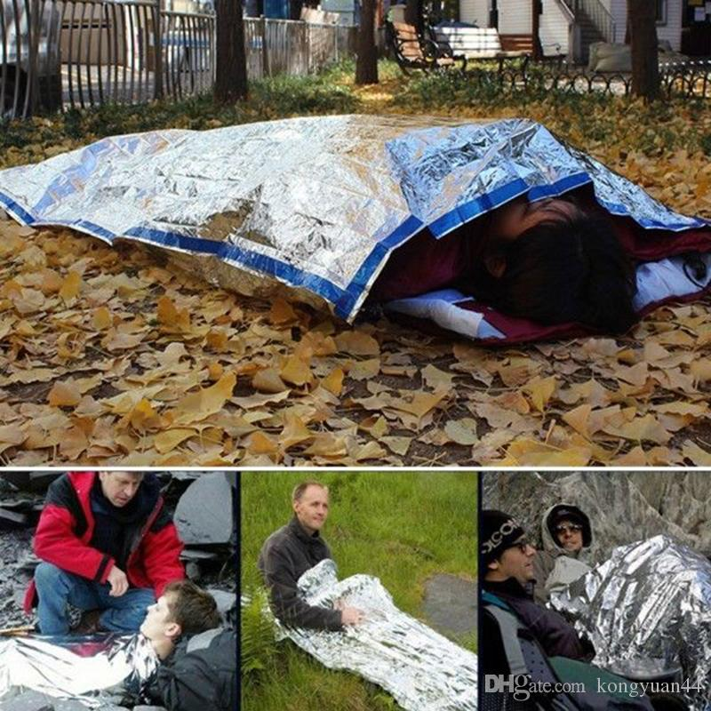 sports shoes c19f7 444e4 200 * 100 cm Leichte Outdoor Wasserdichte Notfall Schlafsack Überleben  Rettung Thermische Erste Hilfe Decke Camping Folie Rettungsdecke