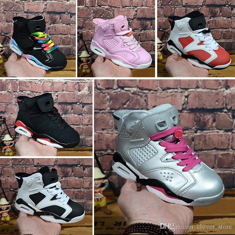 efcb98c55 Compre Nike Air Max Jordan 6 Retro Venta En Línea Barato New Original 13  Zapatillas De Baloncesto Para Niños Zapatillas Para Niñas Niños Niños 13s  ...