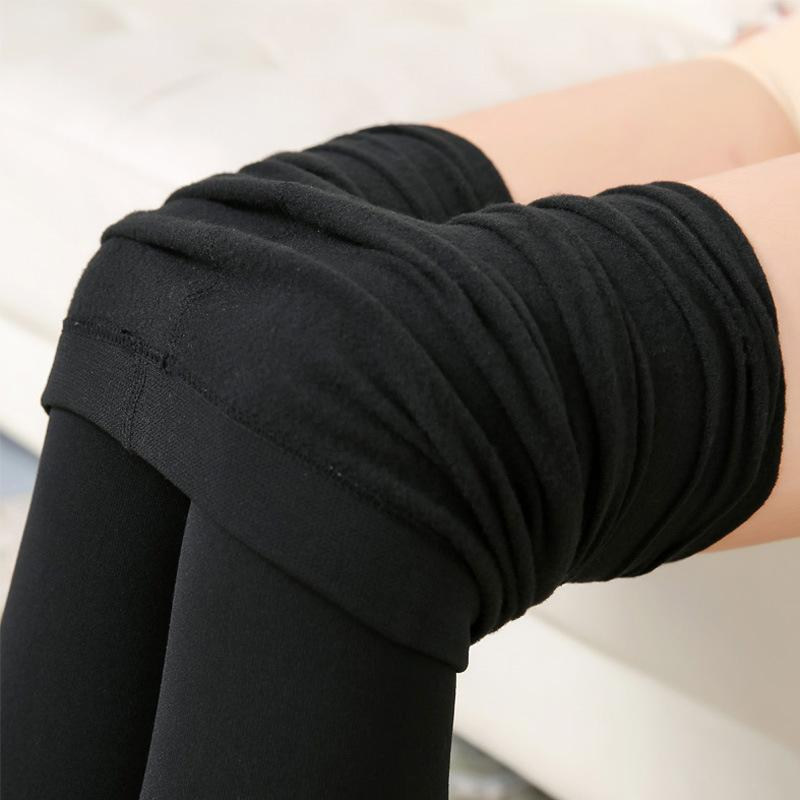 67b05b31c9023 2017 Winter Women Black Leggings Pants High Elasticity Warm Velvet ...