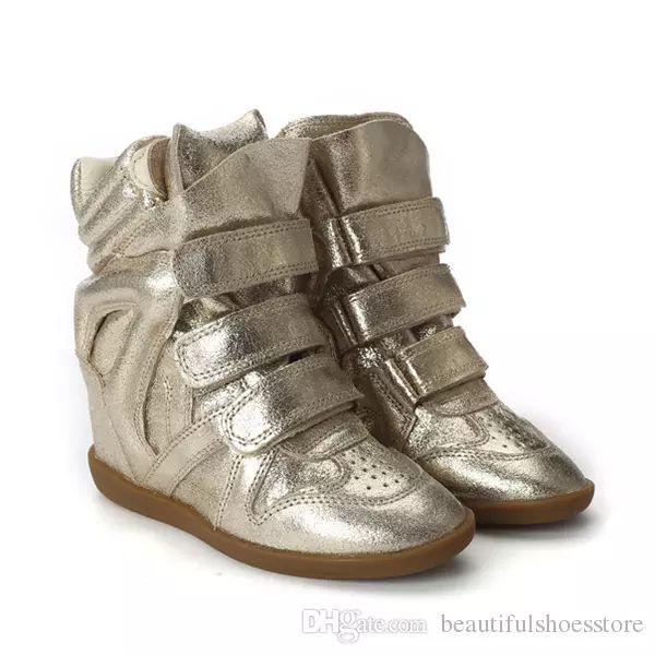 cheaper 1a134 92aee Promi-Herbst Schuhe Frauen Mix Farbe versteckt Keil erhöhte Freizeit Frauen  flach bis keil