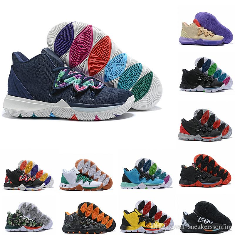 5283d4932e68 2019 New Mens Kyrie 5 Galaxy Multi Color AO2918 900 Irving 5 Sport Sneakers  Irving Basketball Shoes For Cheap Sale Size 7 12 From Sneakerssonfire