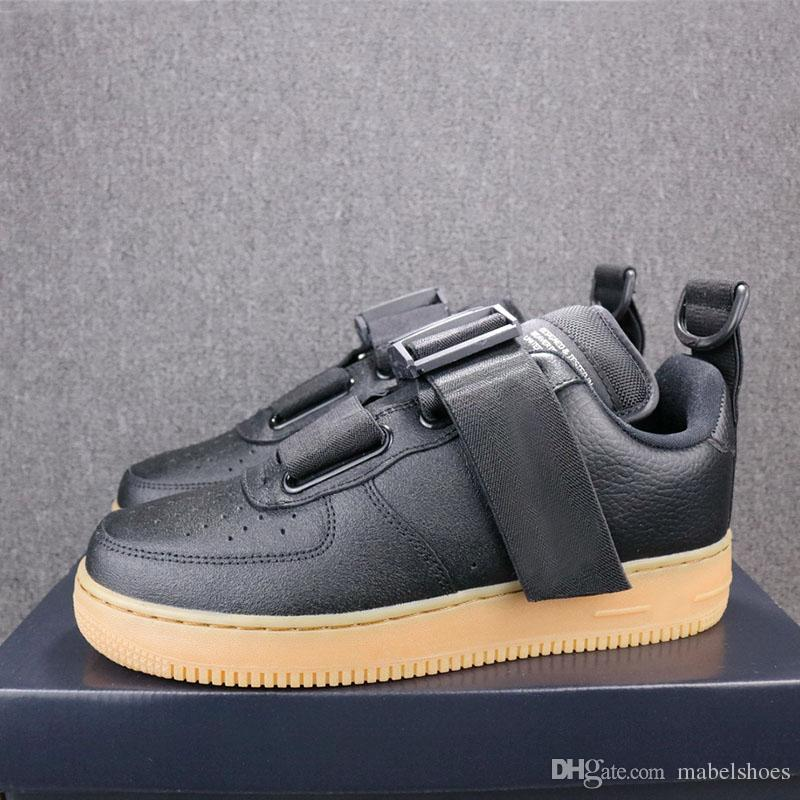 a3d3497ccacb 2019 Utility QS Forced Low Skateboard Shoes Black Brown Fashion Designer  Upper Leather Trainer Sports Shoes Size 36 44 Kids Basketball Shoes  Sneakers Online ...