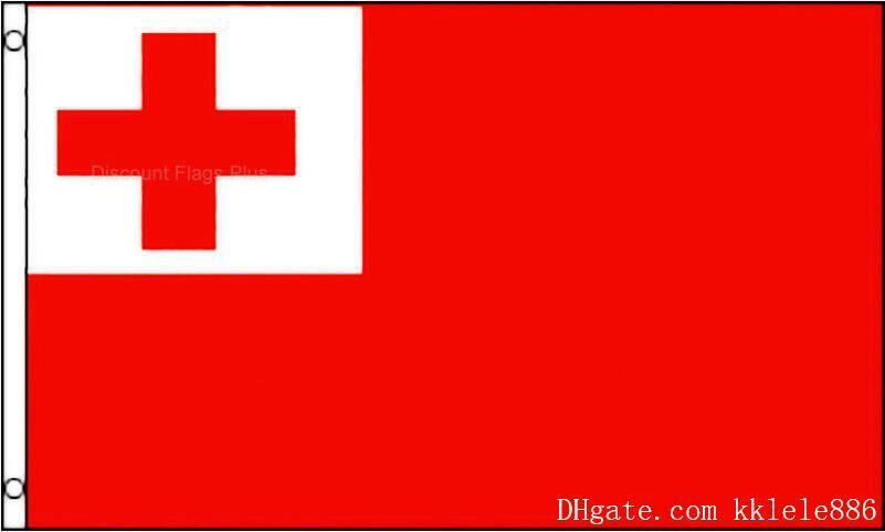 Tonga Flag 90 x 150 cm Polyester Tongan South Pacific Island National Country Banner