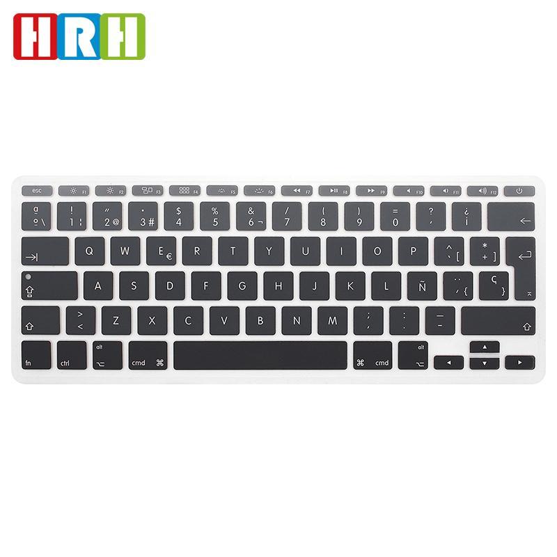dc3add6100c HRH EU Anti Dust Ultra Thin Rainbow Silicone Spanish Keyboard Cover Keypad  Skin Protector For Mac Book Air 11.6 Inch A1370 A1465 Djay Keyboard Cover  ...
