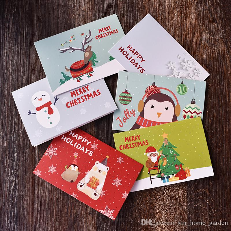 New Year Thank You Christmas Card With Envelope Stickers Winter ...