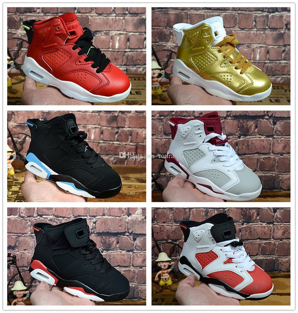 low priced 40ea6 bd0ed Compre Nike Air Jordan Aj6 Envío Gratis Niños Baratos 6 Iron Man Spider Man  Capitán Dragon Ball Zapatos De Baloncesto Niños Athletic 6s Zapatilla De  Deporte ...