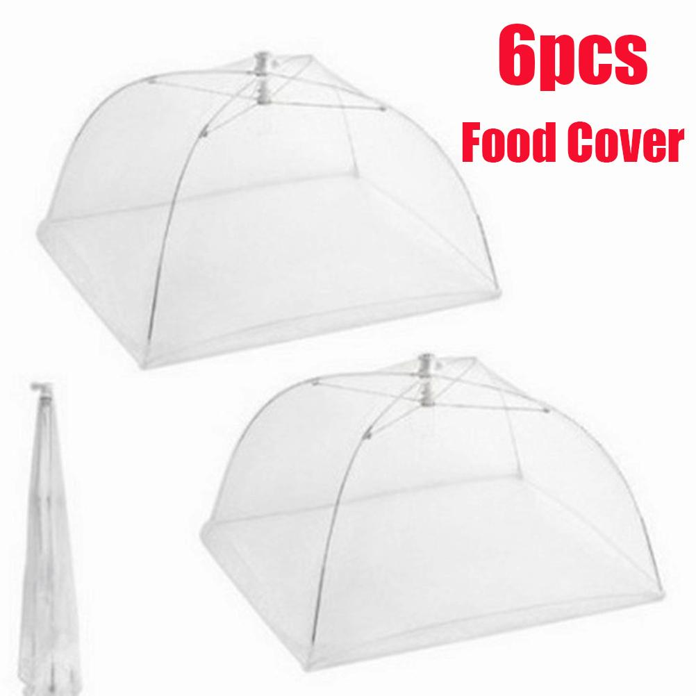 6 Pcs Large Pop-up Screen Tent Umbrella Reusable And Collapsible Outdoor  Picnic Covers Mesh Food Cover Net Q190525