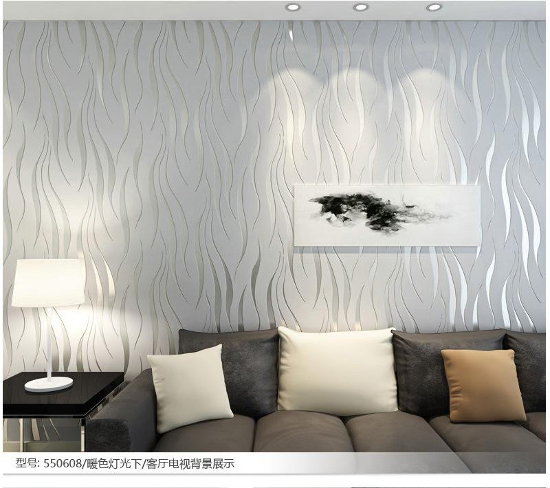 3D Home Decoration Wallpaper Modern Stripe Wave Wall Paper Papel De Parede  Tapete Silver Gray/Beige/Purple Wallpapers Naruto Wallpaper Natural  Wallpapers ...