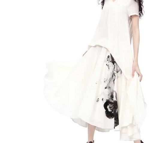 fb23e3f4fffe Acquista Summer Bohemian Cotton Lino Vintage Dress White Restoring Ancient  Loose Maniche Corte Abiti Da Donna Boho Abbigliamento Artka A  77.22 Dal  Uberan ...