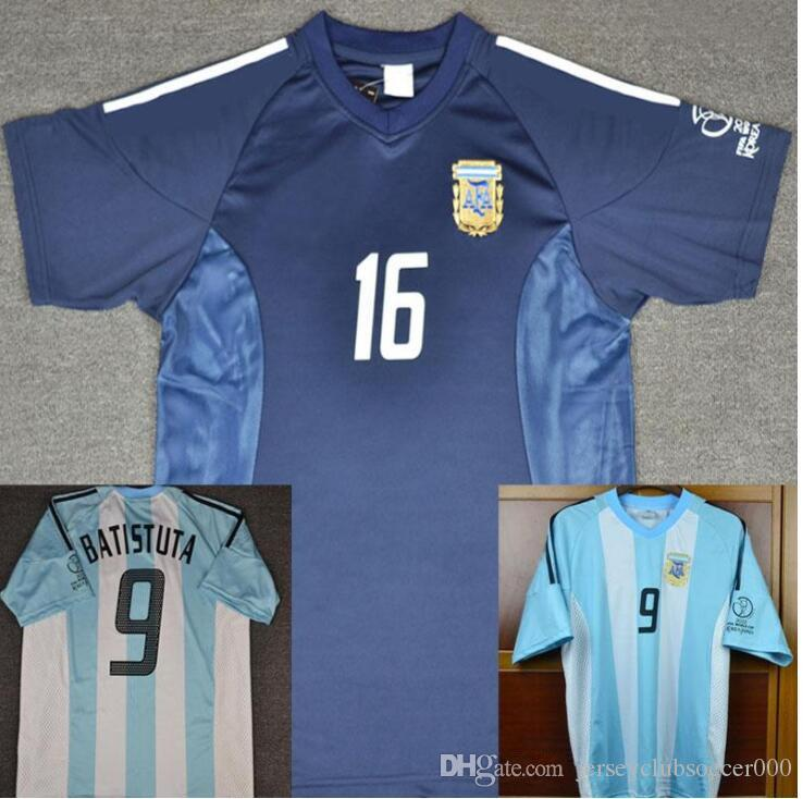 c38ea3a0ad8 2019 2002 Retro Argentina Batistuta Soccer Jersey World Cup Football Shirts  Home Away Uniforms Kit From Jerseyclubsoccer000