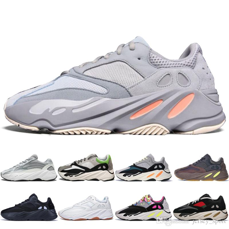 With Box 2020 Kanye West 700 V2 Static 3M Mauve Inertia 700s Wave Runner Mens Running shoes for men Women sports sneakers designer trainers