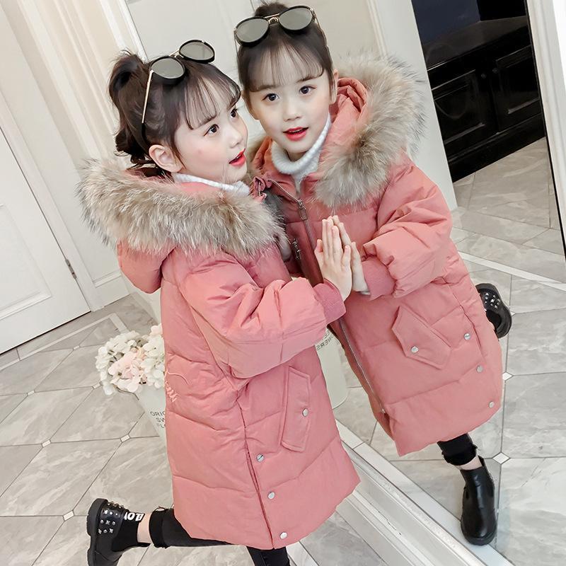 d650af9ffd01 Children Winter Jackets For Girls Cotton Long Coat Parka 2019 New ...