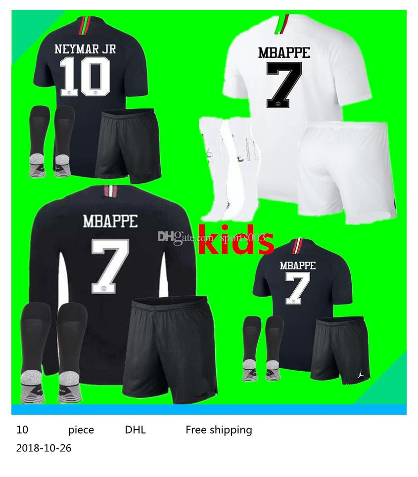 8dfdab5e36f 2019 2018 2019 Kids Kit Soccer Jerseys 18 19 Mbappe Home VERRATTI CAVANI  Child Buffon Psg SHIRT Jordam Champions League Long Sleeve BOYS From  Sports003