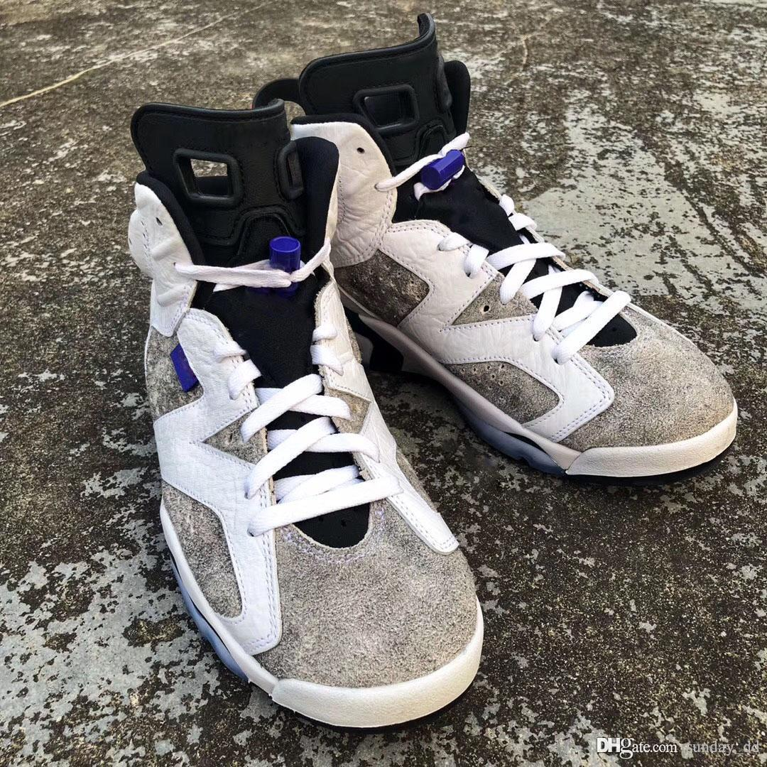 fc682b78c1f7c8 2019 2019 Authentic 6 Flint Grey Basketball Shoes White Black Infrared 23  Dark Concord Suede Men 6S Sneakers CI3125 100 With Original Box From  Sunday dd