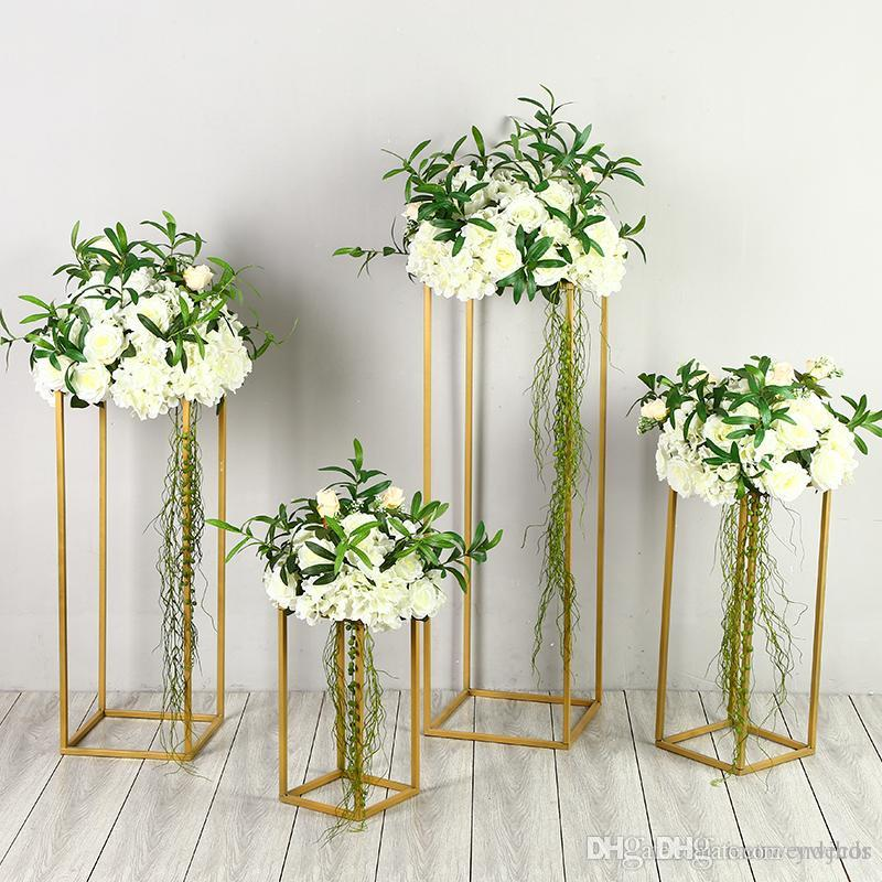 Floor Vases Flowers Vase Column Stand Metal Pillar Road Lead Wedding Centerpieces Rack Event Party Christmas Decoration Party Supplies Birthday Party ...  sc 1 st  DHgate.com & Floor Vases Flowers Vase Column Stand Metal Pillar Road Lead Wedding ...