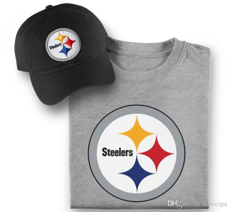 Hot Sale Pittsburgh Adjustable Hats Steelers Pro Line Embroidery Team Logo  Caps With Printed Fanatics Branded Tshirt Bundle Cheap Hats Richardson Caps  From ... 4e720979c