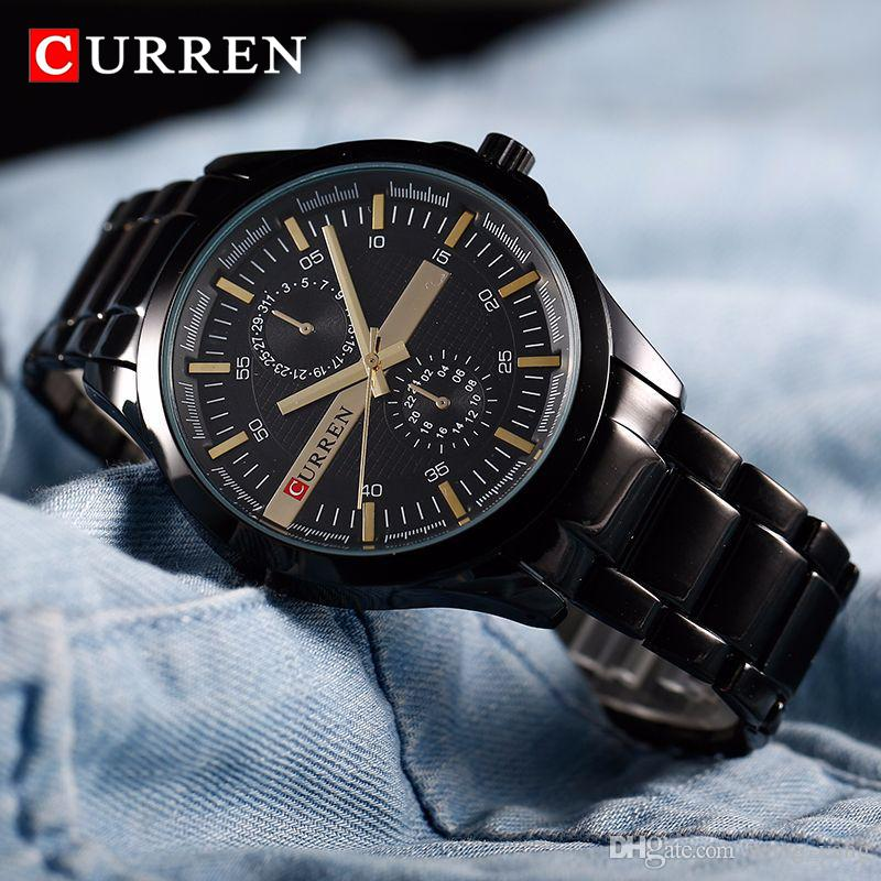 6ebf472efd276c New SALE CURREN 8128 Watches Men Quartz TopBrand Analog Military Male  Watches Men Sports Army Watch Waterproof Watches Cheap Watches On Sale From  Wang_yang, ...