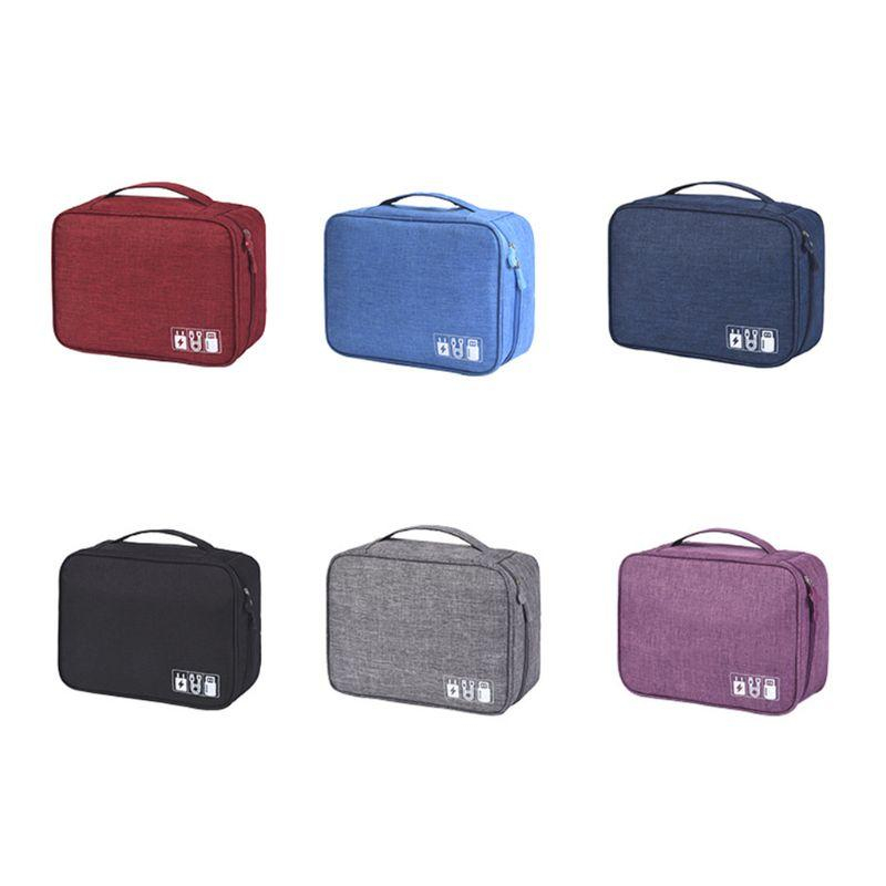 Travel USB Flash Drives Case Organizer Bag Digital Storage Pouch Data Earphone Cable