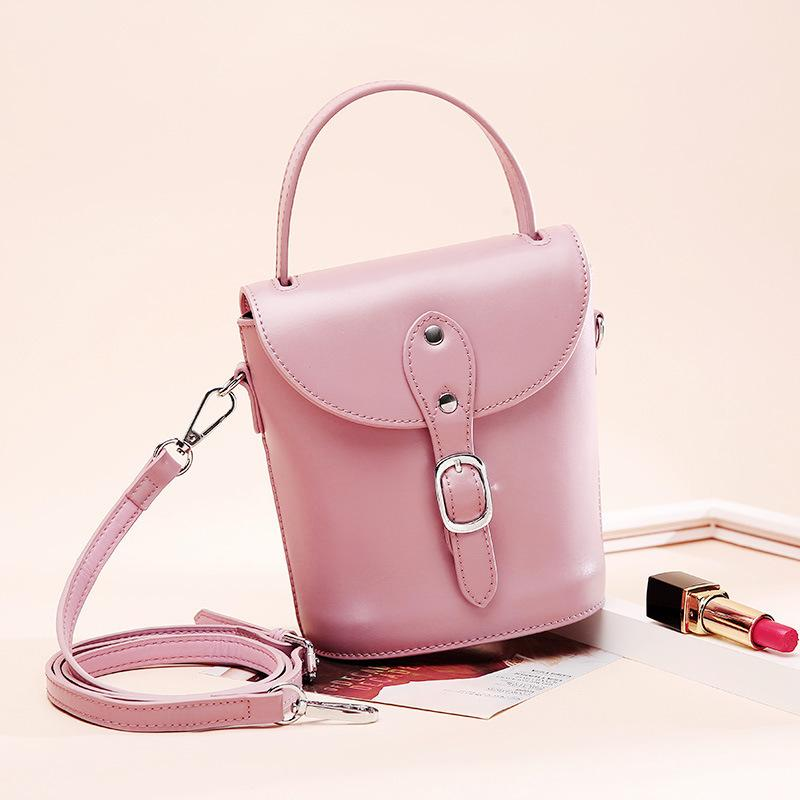 Individual2019 Trend Ma'am Hundred Take The Hand Handbag Leisure Time Genuine Leather Messenger Mini- Bucket Single Shoulder Small Bag