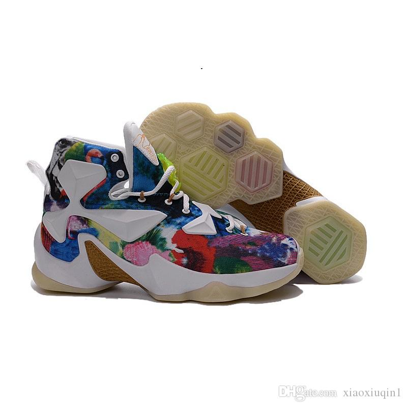 fc6db8684e6f Cheap Lebron 13 Mens Basketball Shoes for Sale MVP Christmas BHM Blue  Easter Halloween Akronite DB Youth Boots with Original Box Size 7 12