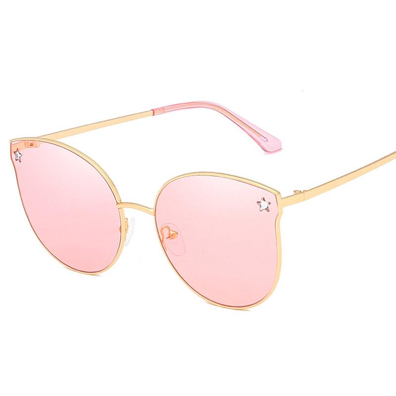 967fb7b45178d Luxury Brand Cat Eye Sunglasses Women Oversize Crystal Star Shades Fashion  Pink Mirror Sun Glasses Female Shades Foster Grant Sunglasses Spitfire  Sunglasses ...