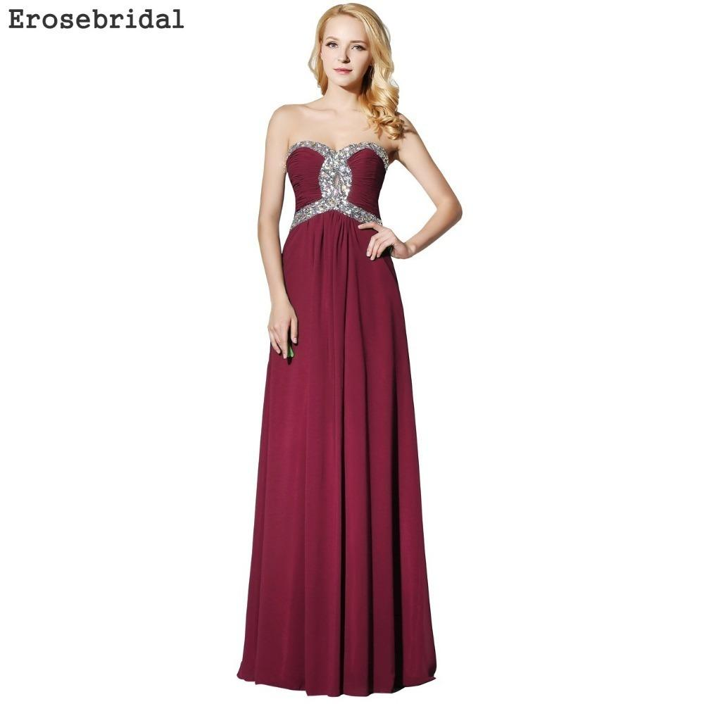 1539cba654 [clearance Sale] Chiffon Long Evening Dress 2019 Simple Formal Women Party  Wear Elegant Sweetheart 48 Hours Shipping Ever Pretty Y19051401