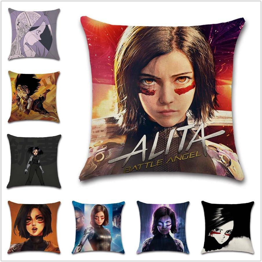 Comic battle girl Movie show Cushion Cover Decoration Home sofa chair car seat kids bedroom gift friend present pillowcase
