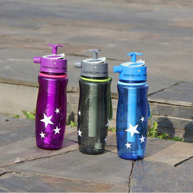 3 Colors 700ml Creative Spray Water Bottle 3 ways Gun/Sprinkled/Mist Sport Bottle Plastic Gym Outdoor Cycling Kettle Car Cup CCA10862 10pcs
