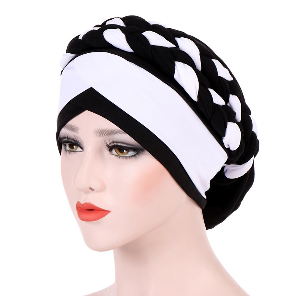 Muslim Female Hats for Women Headscarf Print Turban Chemotherapy Wrap Caps for Ladies Girls Cancer Chemo Hats bonnet femme