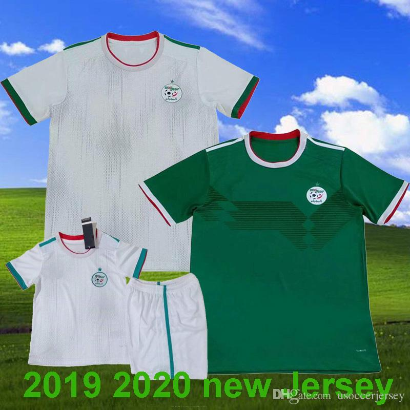 0e336a6eb 2019 2019 Algeria Soccer Jersey Adult Home White 19 20 Football Shirt  Maillot Algeria Away Green Kids Soccer Kit MAHREZ Top Football Uniforms  From ...