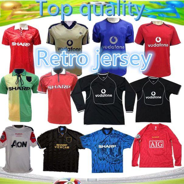 da2b7dc0e49 2019 2006 2007 2008 United Retro UCL Final Match Manutd Shorts Sleeves  Jersey 1993 1994 1998 2010 2011 2013 RONALDO 07 08 Shirt Retro Jersey From  ...