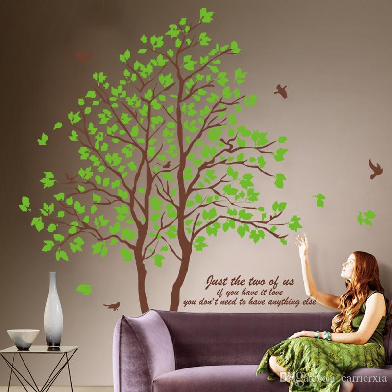 Hot sale Lover Tree Wall Sticker Large Tree Wallpaper Wall Murals for Living Room Bedroom Home Decoration