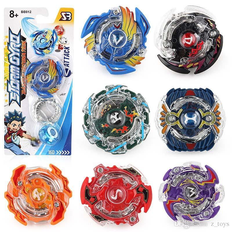 BB812 8 Stlyes Beyblade Burst New Spinning Top Beyblade And Original Box Metal Plastic Fusion 4D Gift Toys For Kids