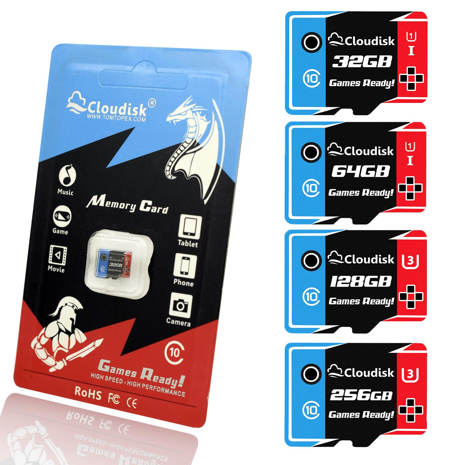 c311bfb70c0 Cloudisk Games Ready Microsd Memory Cards 256GB 128GB 64GB 32GB Micro Sd  Card U3 U1 Class10 High Speed 5 Year Warranty Memory Card Shop Memory Card  Shop ...