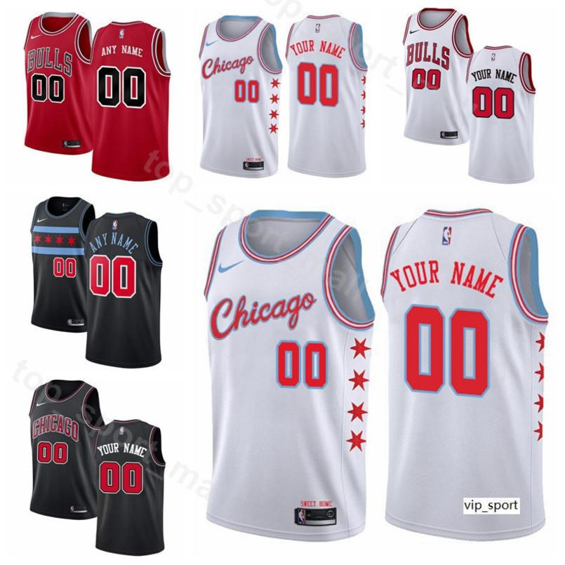 new product cc087 c0837 Print Man Kids Woman Chicago Basketball Bulls Jersey Zach LaVine Lauri  Markkanen Otto Porter Jr. Kris Dunn Wendell Carter Jr. Shirts