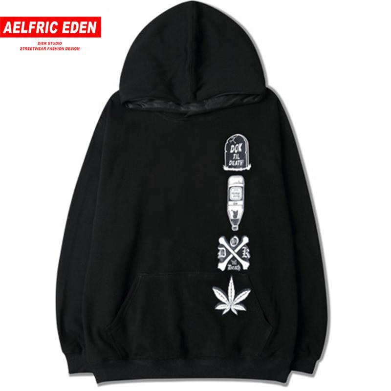 c5dab75fb0c8d Compre Aelfric Eden Hip Hop Looes Sudadera Cáñamo Hojas Botella ...