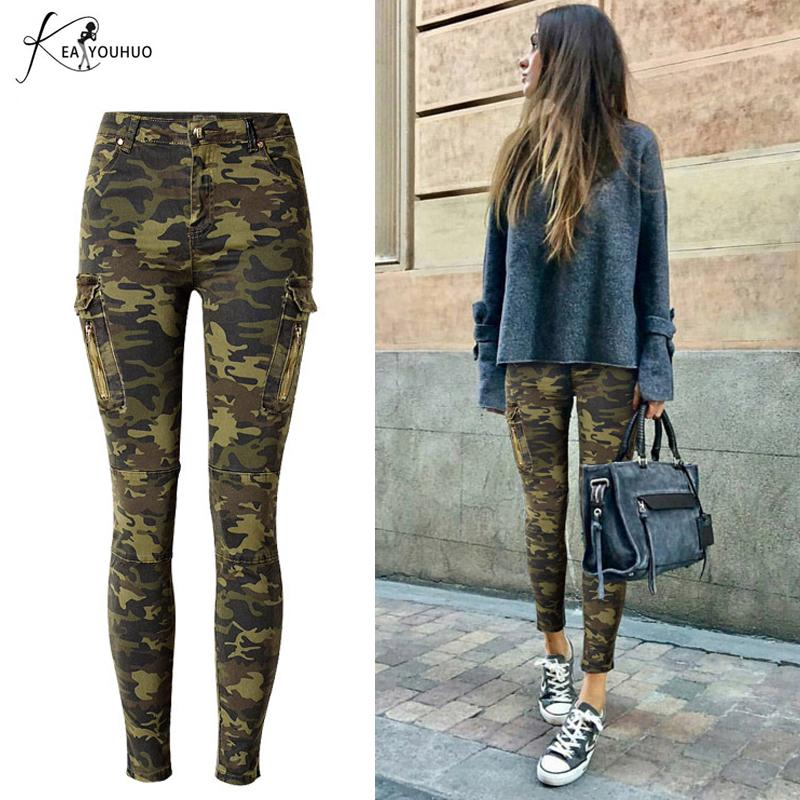 0d7c4da067ee6 2019 2019 Summer Pencil Plus Size Cargo Jeans Woman High Waist Camouflage  Army Pants For Women Joggers Women Trousers Pantalon Femme Y190430 From  Tao01, ...
