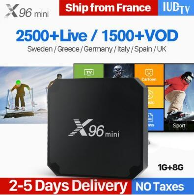 IPTV Europe Swedish Portugal Italia X96 mini Android 7 1 Smart TV BOX 4K  X96mini Spanish Italia IP TV Box IUDTV Code IPTV 1 Year