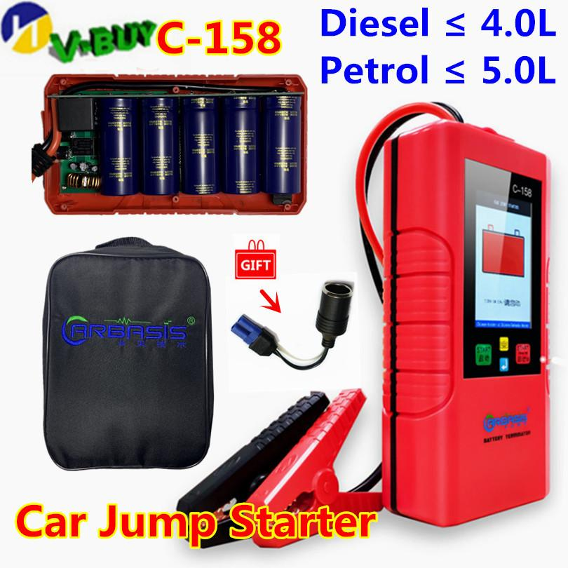 3pcs DHL New arrive Car jump starter Great discharge rate Diesel petrol power bank For car vehicle start jumper battery