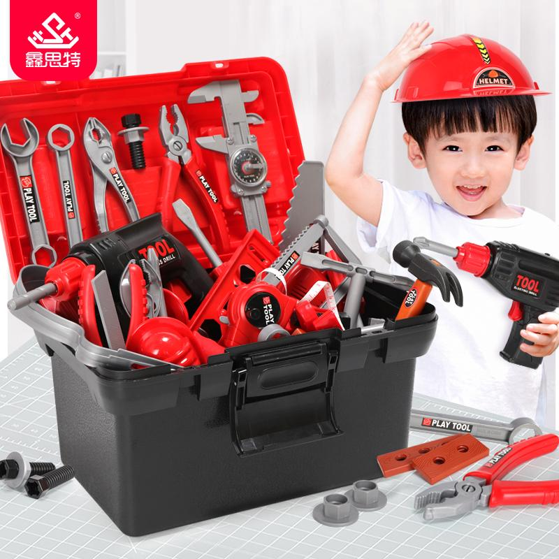 Pretend Play Kids Toolbox Set Educational Toys Simulation Repair Tools Drill Screwdriver Engineering Maintenance Tool Toys Gifts For Boy Consumers First