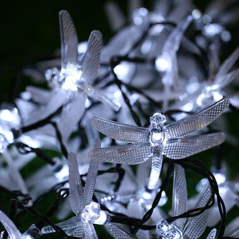 20Leds Lights String dragonfly Shaped battery Powered Fairy Lights Outdoor Garden Fence DIY decor New year Party Xmas Decoration
