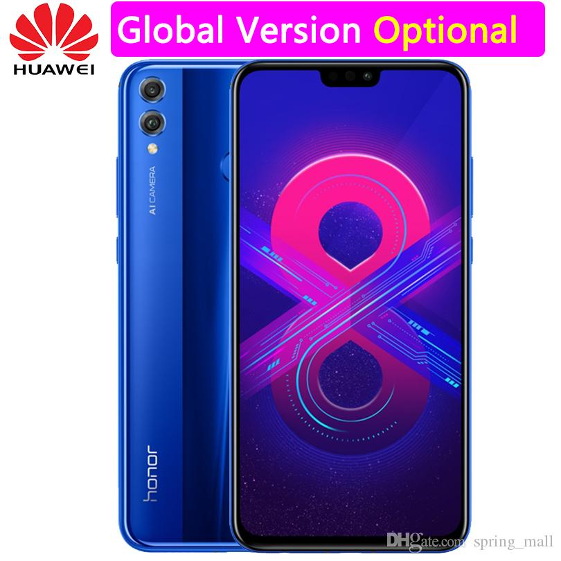 Global Firmware Huawei Honor 8X Mobile Phone 6 5 inch Screen 3750mAh  Battery Android 8 1 Octa Core 1 5GHz Dual Black 20 0 2 0MP