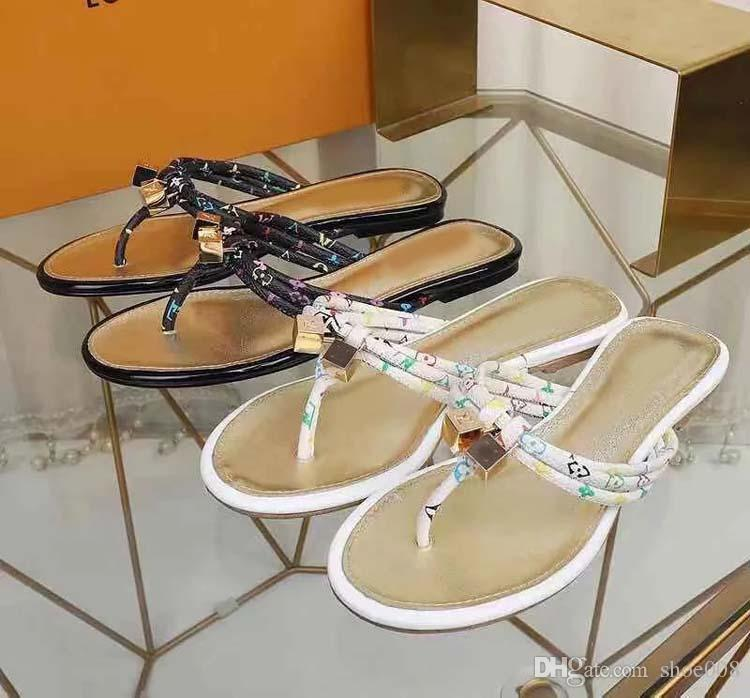 2019 Slippers Sandals Slides Best Quality Sandals Designer Shoes Slippers Huaraches Flip Flops Loafers For Woman Size:35-41 With box b161