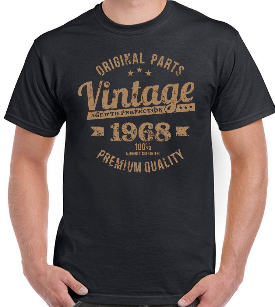 Vintage Original Parts 1968 Mens 50th Birthday Funny T Shirt 50 Year Old Present High Quality Custom Printed Tops 2018 MenS Lastest Family Shirts