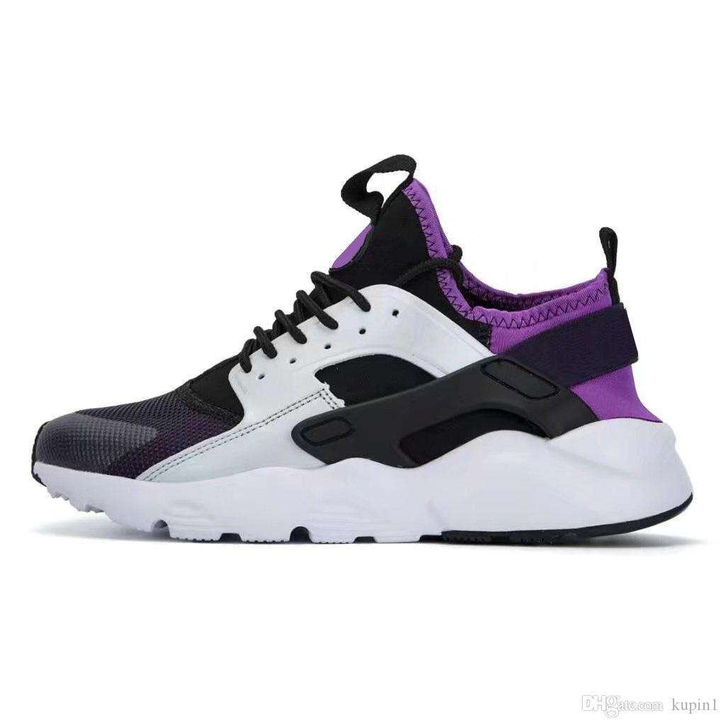 official photos 0e310 306b4 OG With Box Triple White Black Huarache 4.0 1.0 Running Shoes Classical red  men women Huarache Shoes Huaraches Trainer sports Sneakers