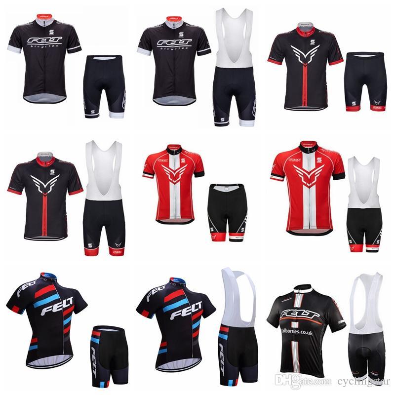 2019 Men FELT Cycling Jersey Set Cycling Shirts Bib Shorts Suit Summer  Quick Dry Bicycle Short Sleeves MTB Bike Racing Sports Wear 121802Y Custom  Cycling ... dfde02a53