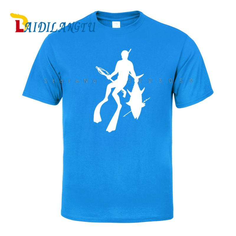 Fashion Personalized Wetsuit Fish Spear Men T-shirt Short sleeve O-Neck T shirt
